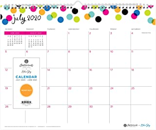 """Ampersand for Blue Sky 2020-2021 Academic Year Monthly Wall Calendar, Twin-Wire Binding, 15"""" x 12"""", Dots, White (107947-A21)"""