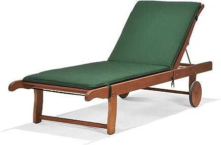 Chichester 森林管理委员会认证桉木户外太阳躺椅,带 Weathertex 靠垫