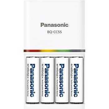 パナソニック エネループ 急速充電器セット 単3形充電池 4本付き スタンダードモデル K-KJ55MCC40