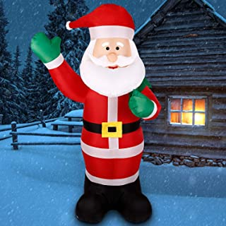Albrillo Inflatable Christmas Decorations Outdoor 6 FT Tall Blow up Christmas Inflatables Santa Clause with Light, Ideal for Indoor Outdoor Party Yard