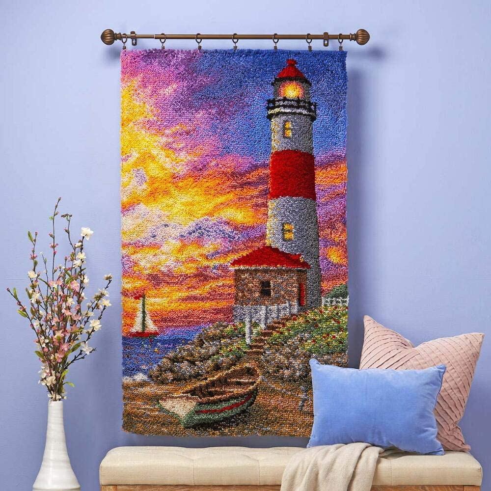 Herrschners Sunset Lighthouse Limited time Challenge the lowest price of Japan cheap sale Latch Kit Hook
