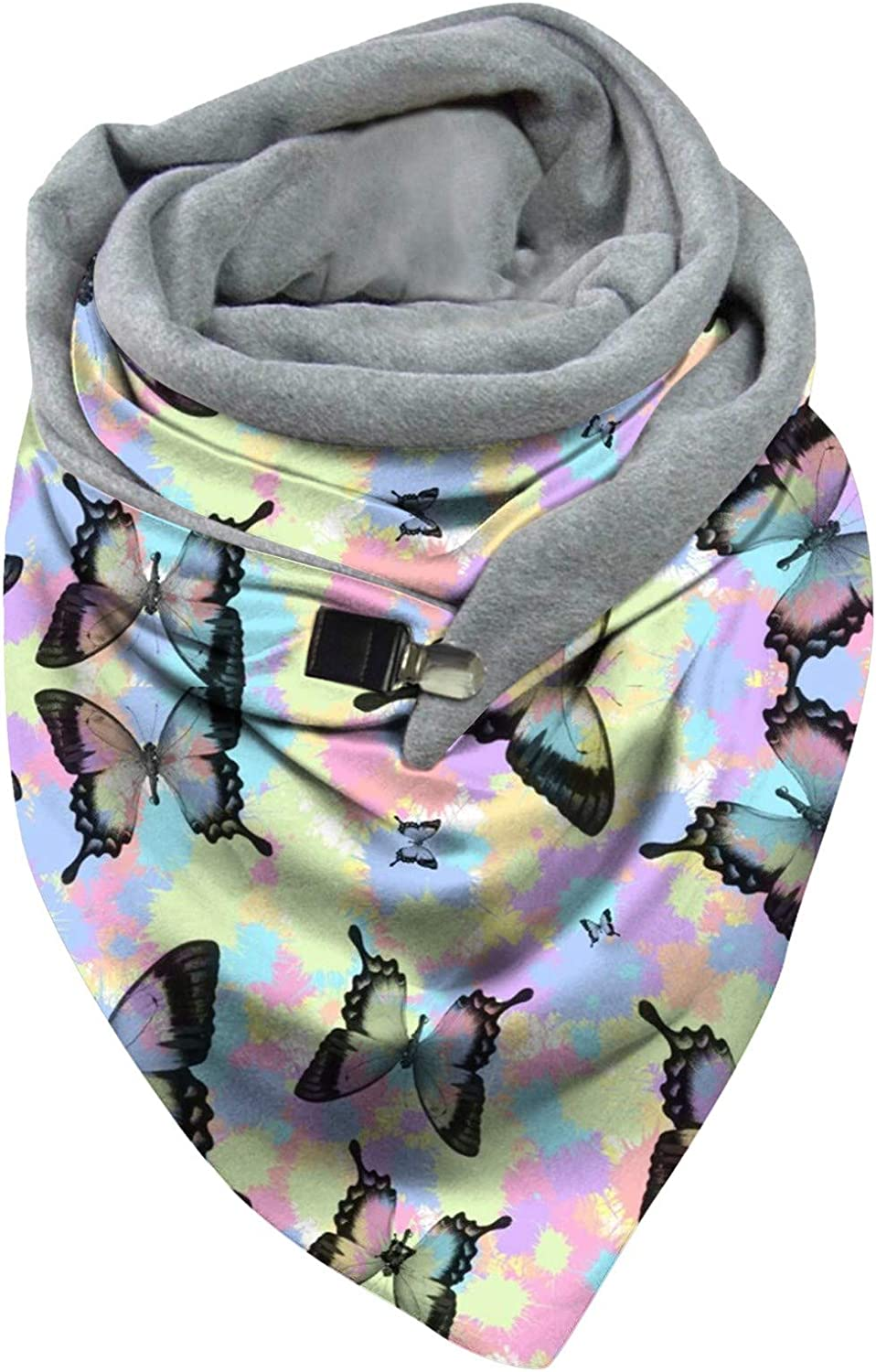 Mikey Store Cold Weather Scarves & Wraps Tie Dye Whirlpool Butterfly Star Starry Sky Print,Multiple Ways to Wear