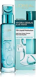 L'Oreal Paris Hydra Genius Aloe Water 72H Liquid Moisturizer Normal to Dry skin 70 ML