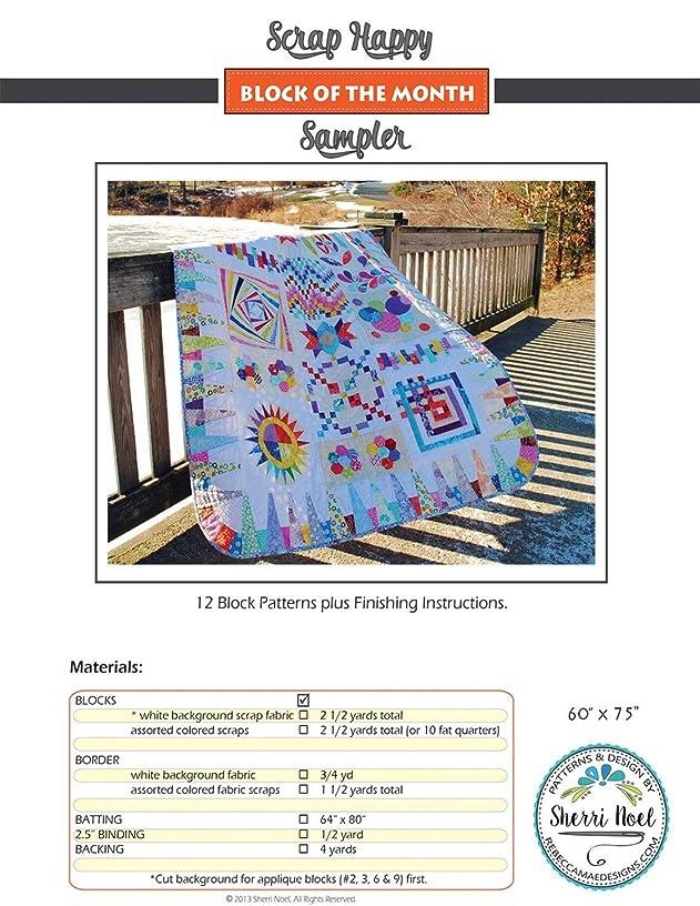 Scrap Happy Block of the Month Sampler Quilt Pattern by Sherri Noel