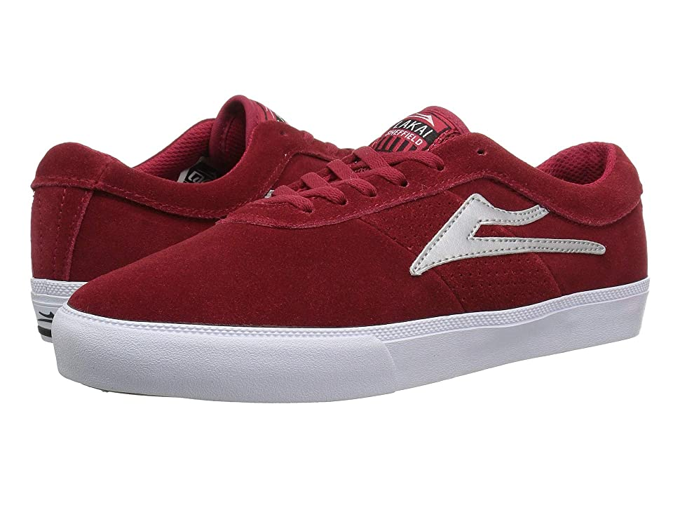 Lakai Sheffield (Red/Silver Suede) Men