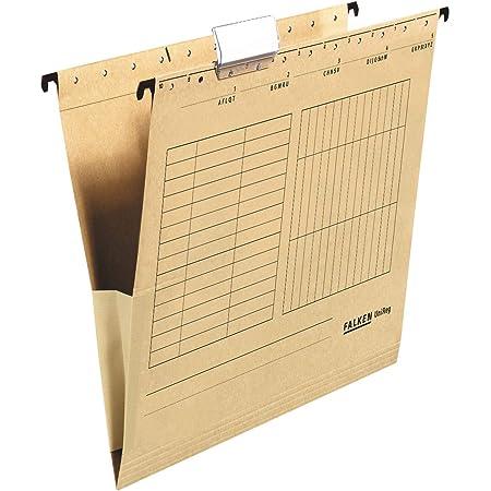 Falken, 80004336001F Paquet de 25 Dossiers suspendu A4 230g/m² coloris Marron, 318x227 mm