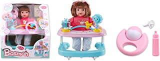 Basmah Doll Set with Baby Walker and Sound, 14 inches,  32-69001C