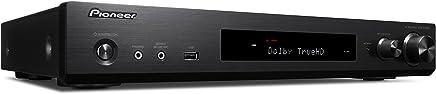 Pioneer VSX S 520D B Slimline AV Receiver (80W Per Channel, Versatile Streaming, WiFi, Bluetooth, DAB +, HDCP, 2.2, APPC ClimateControl User-friendly Remote–Black