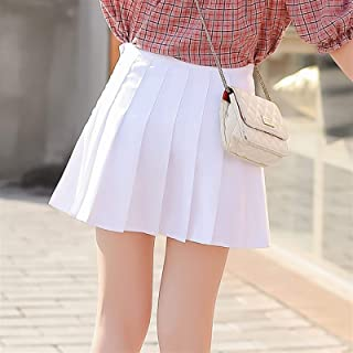 DANGAO Primavera a Vita Alta Palla Pieghettata Gonne Harajuku Denim Gonne Solid A-Line Skirt Sailor Skirt Plus Size Unifor...