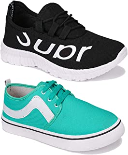 WORLD WEAR FOOTWEAR Men Multicolour Latest Collection Sports Running Shoes-Pack of 2 (Combo-(2)-9168-9106)