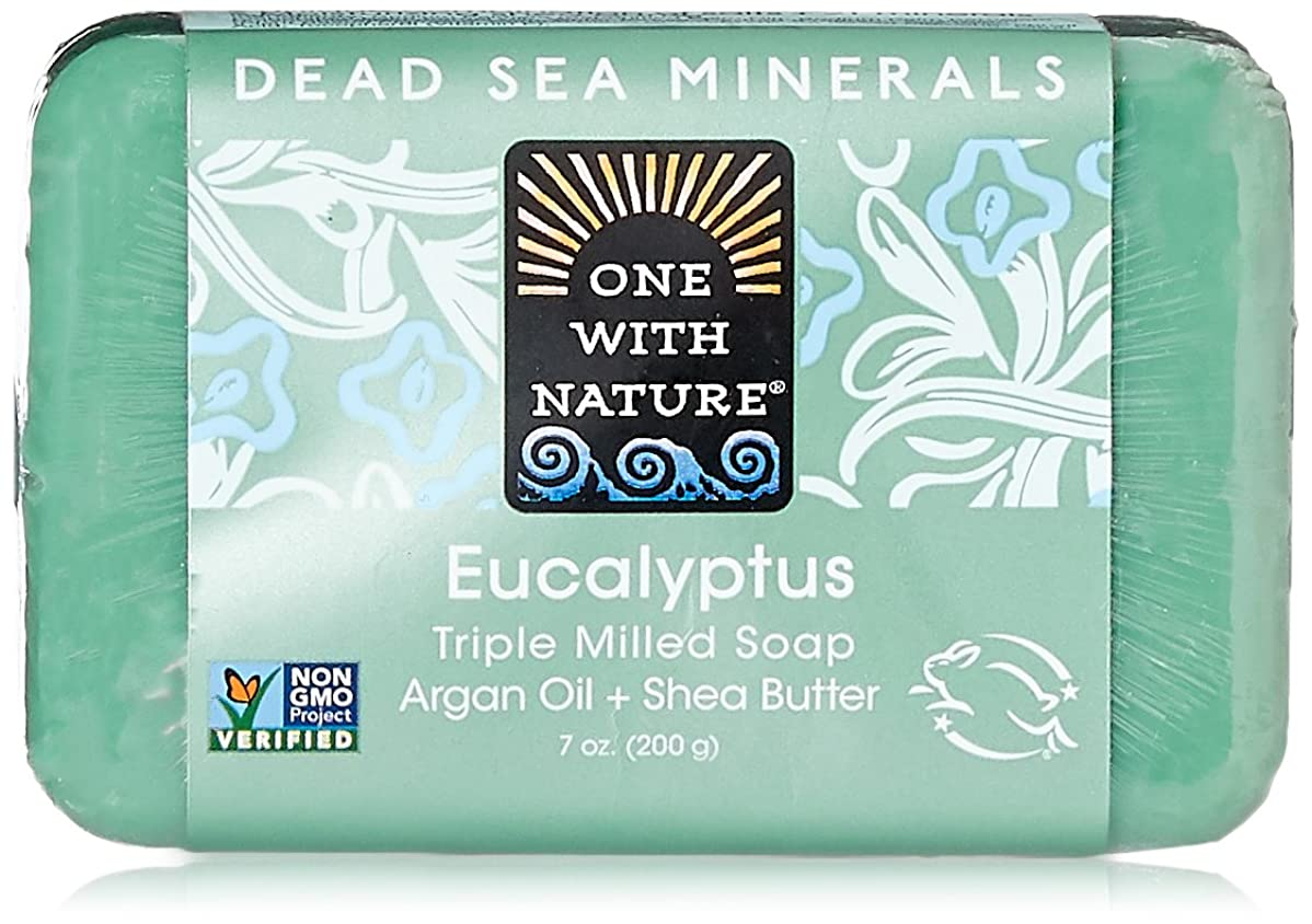 状ピンク言い聞かせるOne With Nature Eucalyptus Bar Soap (1x7 Oz) by One With Nature