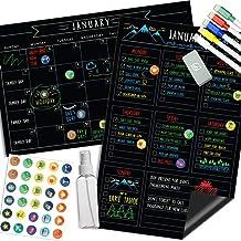 Magnetic Calendar for Fridge Chalkboard – Weekly & Monthly Black Dry Erase..