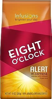Eight O'Clock Ground Coffee, Alert Hi-Caffeine, 10 Ounce