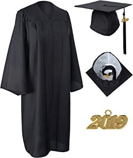 Unisex Matte Graduation Gown Cap with 2019 Tassel Included Package