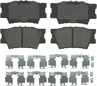 Wagner QuickStop ZD1212 Ceramic Disc Pad Set Includes Pad Installation Hardware, Rear