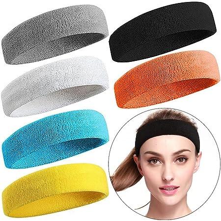 Sport Stirnband 4 Pack Elastisches Haarband Antirutsch Feuchtigkeitstransp
