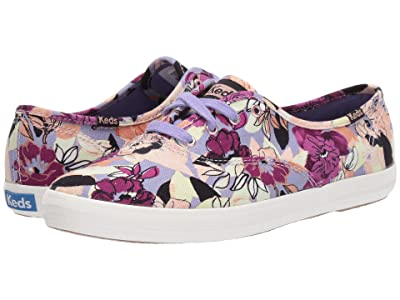 Keds Champion Floral (Purple Twill) Women