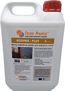 RESINA PUENTE DE UNIÓN de Tecno Prodist - (5 Litros) Adhesivo al agua, adherencia hormigones y morteros viejos con nuevos - Escayolas - Cementos - Para yesos en cornisas y techos. Buena Calidad