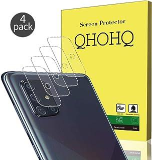 QHOHQ Protector de Lente de Cámara para Samsung Galaxy A71 Protector de Pantalla[4 Unidades] Cristal Templado Ultra Delgado Alta definición Anti-rasguños Vidrio Templado
