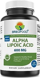 Brieofood Alpha Lipoic Acid 600 mg 120 Capsules