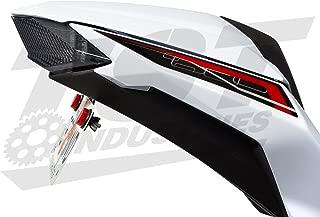 Kawasaki 2013-2017 Ninja 300 Integrated Tail Light, Elite-1 Fender Eliminator, LED Flasher Relay, and License Plate Light (Smoked Programmable)
