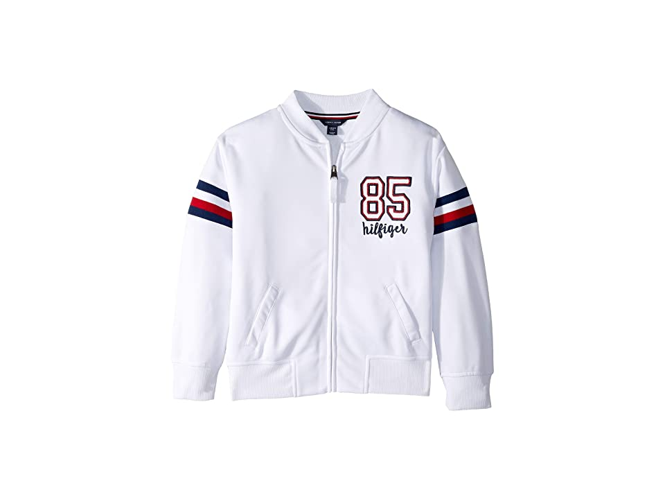 Tommy Hilfiger Kids 85 Baseball Jacket (Big Kids) (White) Girl