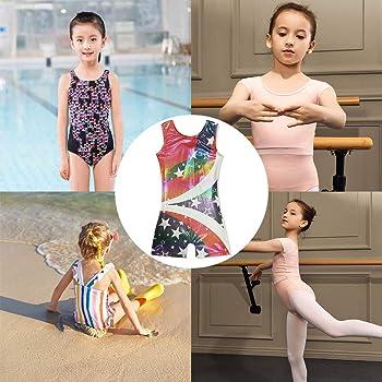uideazone Girls Leotards Gymnastics with Shorts Sparkly Dance Ballet Unitard One-Piece Tank Biketards 3-7 Years