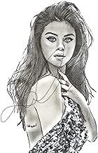 Selena Gomez Sketch Drawing Print Poster Hand Drawn Pencil Singer #GOMEZ_SKETCH1
