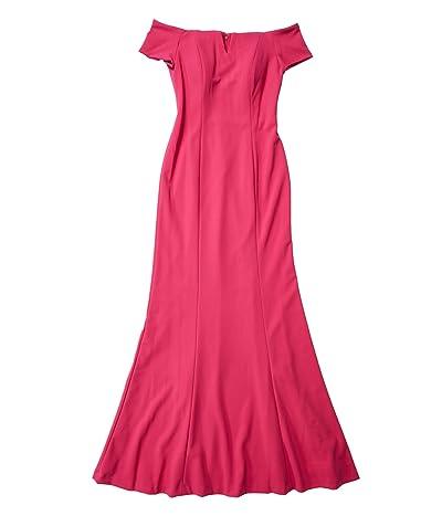 Calvin Klein Off Shoulder Gown (Hibiscus) Women