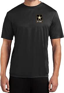 Mens US Army Pocket Print Moisture Wicking T-Shirt