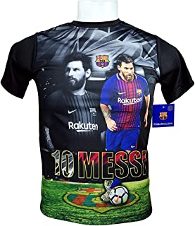 FC Barcelona Messi Number 10 Official Youth Soccer Signature Performance Poly Jersey -Y004