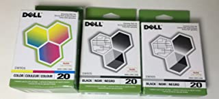 3 Combo Packs: Original Dell Series 20 (2 Black+1 Color) for DWP905, DWP906