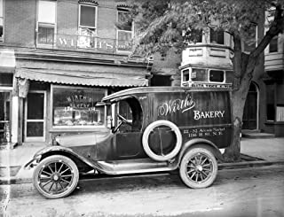 Car And Bakery C1915 Na Car With An Advertisement For WirthS Bakery In Front Of The Store On H Street In Washington DC C1915 Poster Print by (24 x 36)