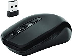 Macally 2.4G Wireless Mouse (Optical) with USB Cordless Mice Receiver - 6 Button and 3 Level Adjustable DPI - Works with Windows PC Notebook Laptops, Desktop Computers, Apple MacBook iMac, etc.