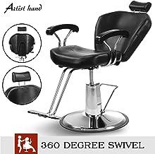 Artist Hand Hydraulic Reclining Barber Chair 360 Degrees Rolling Swivel Barber Chairs Hair Salon Spa Equipment