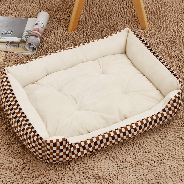 Dog Bed Pet Bed Warmer Pet Mat Winter Thick Warm Dog Blanket Cat Pad Dog Mat DualUse Pet Cushion Sofa Cushion,Squares,XXS