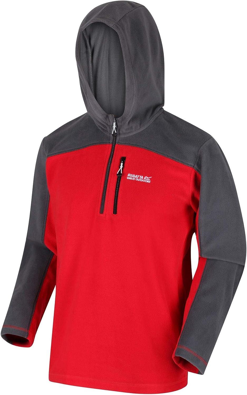 Regatta Mens Teasdale Lightweight Hooded Half Zip Overhead Fleece With Zip Chest Pocket Fleece