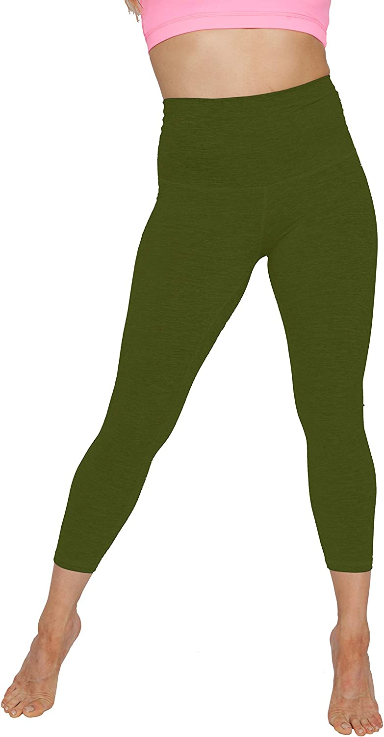 Women's Ultra Soft High Waisted Stretchy Capri Workout Leggings for Yoga, Running, Pilates, Gym