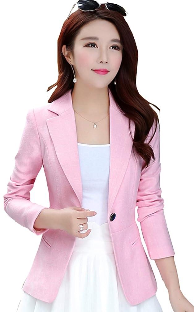 Women's Slim Fit Office Business Blazers One Button Jacket My Wonderful World