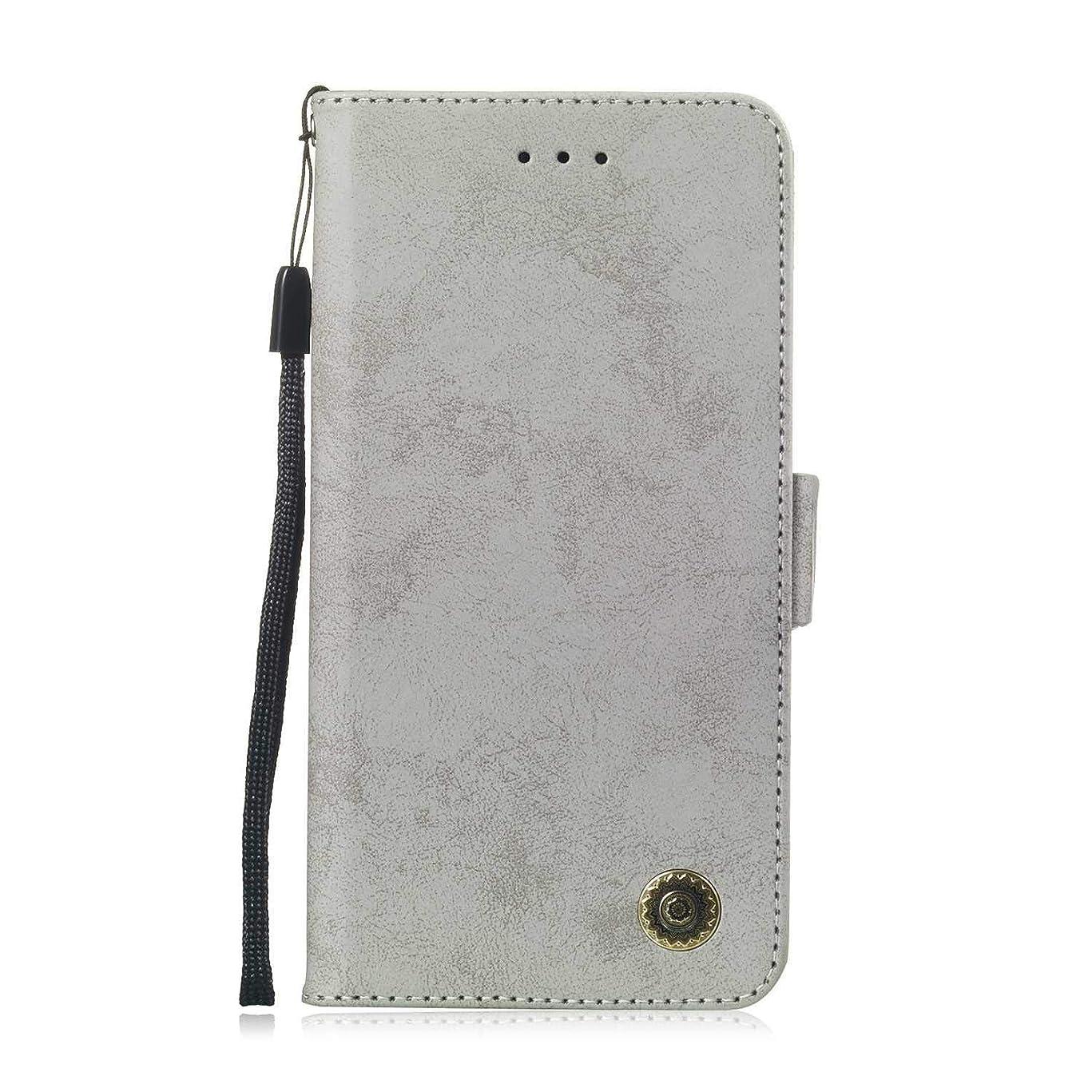 不名誉な実行可能主張Zeebox? Huawei Honor 8C 手帳型ケース Huawei Honor 8C 手帳型カバー 財布型 合皮PUレザー マグネット式 保護ケース カード収納 スタンド 機能 (グレー #5)