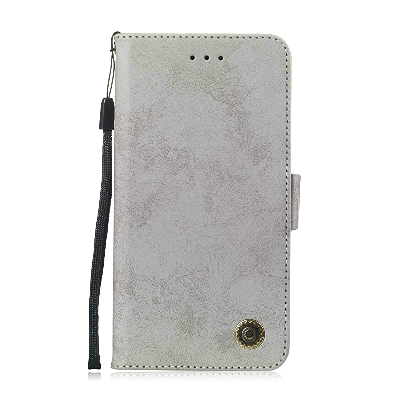 ディスパッチ困惑した雇うZeebox? Huawei Honor 8C 手帳型ケース Huawei Honor 8C 手帳型カバー 財布型 合皮PUレザー マグネット式 保護ケース カード収納 スタンド 機能 (グレー #5)
