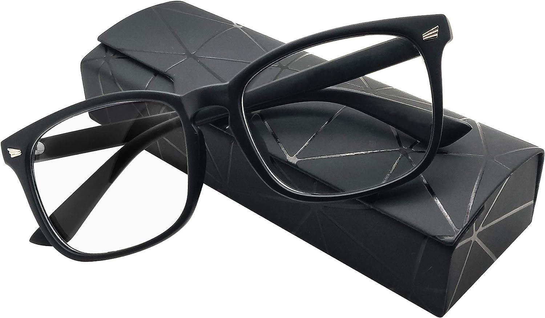 Illumely Blue Light Blocking Glasses - Anti Headache, Women/Men for Computer, Gaming/Reading Optimized Stylish Square Frame, Non Prescription