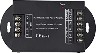 LEDENET RGB High Speed Power Amplifier 24A Data Signal Repeater 3CH Channels for 5050 LED Lights Strip