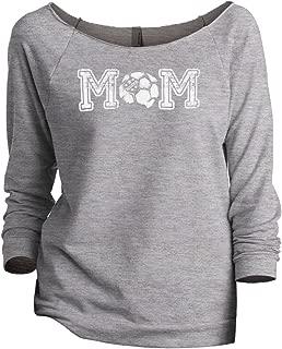 Thread Tank Soccer Mom Women's Slouchy 3/4 Sleeves Raglan Sweatshirt Sport Grey