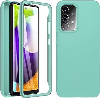 OWKEY für Samsung Galaxy A52 5G&4G / A52s 5G Hülle, 360 Grad Stoßfest Handyhülle Silikon Roubst Cover mit Integriertem Dis...