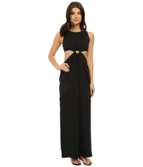 Michael Kors Draped Solids Open Back Cover Up Dress At 6pm