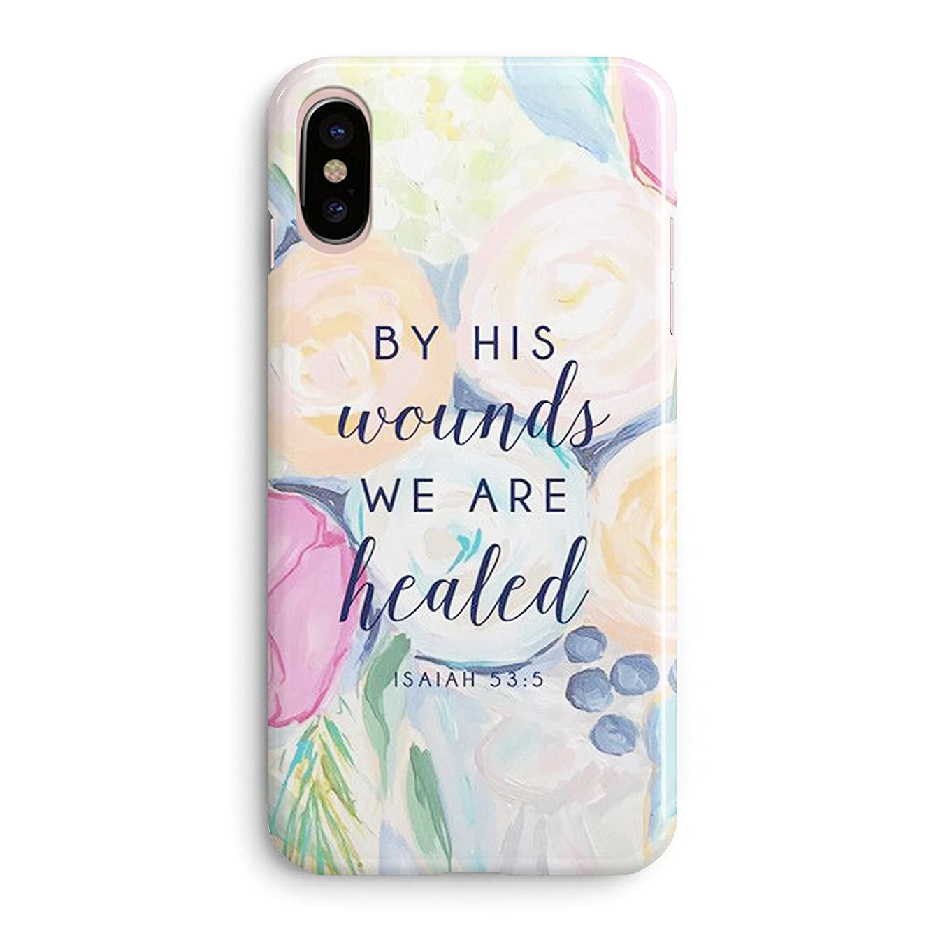 iPhone Xs Max Case Girls,Women Life Power Quotes Cute Flowers Floral Women Christian Quotes Bible Verses Inspirational Isaiah 53:5 We are Healed Christ Lord Soft Case Compatible for iPhone Xs Max