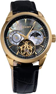 Stauer Men's 1777 Automatic Watch with Black Leather Band