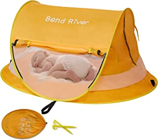 Bend River Large Baby Tent, Portable Baby Travel Bed, UPF 50+ Infant Beach Sun Shelter, Pop Up Toddler Mosquito Net