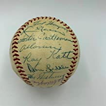 1954 New York Giants World Series Champs Team Signed Baseball Willie Mays PSA